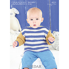 Buy Sirdar Snug Baby Bamboo DK Knitting Pattern, 4521 Online at johnlewis.com