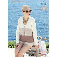 Buy Sirdar Cotton DK Knitting Pattern, 7215 Online at johnlewis.com