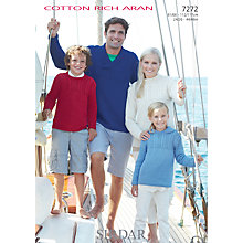 Buy Sirdar Cotton Rich Aran Knitting Pattern, 7272 Online at johnlewis.com