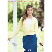 Buy Sirdar Country Style DK Knitting Pattern, 7219 Online at johnlewis.com