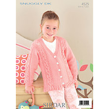 Buy Sirdar Snuggly DK Knitting Pattern, 4525 Online at johnlewis.com