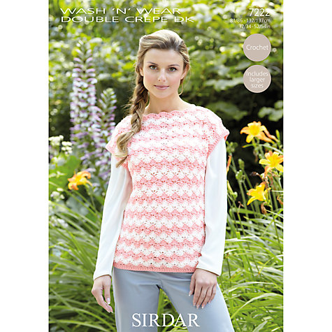Crochet Patterns John Lewis : Buy Sirdar Wash n Wear DK Crochet Pattern, 7222 John Lewis