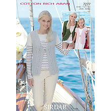 Buy Sirdar Cotton Rich Aran Leaflet Knitting Pattern, 7277 Online at johnlewis.com