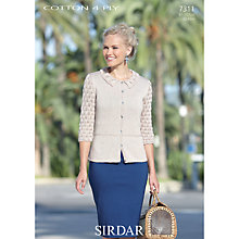 Buy Sirdar Cotton 4 Ply Knitting Pattern, 7311 Online at johnlewis.com