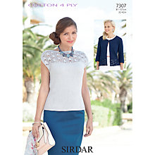 Buy Sirdar Cotton 4 Ply Knitting Pattern, 7307 Online at johnlewis.com