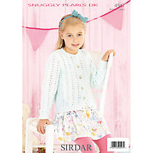 Buy Sirdar Snuggly Pearls DK Knitting Pattern, 4547 Online at johnlewis.com