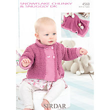 Buy Sirdar Snowflake Chunky & Snuggly DK Knitting Pattern, 4560 Online at johnlewis.com