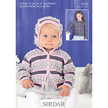 Buy Sirdar Snug Baby Bamboo DK Knitting Pattern, 4522 Online at johnlewis.com