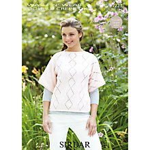 Buy Sirdar Wash 'n' Wear DK Knitting Pattern, 7223 Online at johnlewis.com
