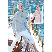 Buy Sirdar Cotton Rich Aran Knitting Pattern, 7273 Online at johnlewis.com