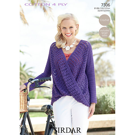 Crochet Patterns John Lewis : Buy Sirdar Cotton 4 Ply Crochet Pattern, 7306 John Lewis