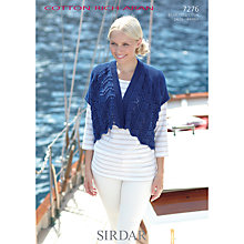 Buy Sirdar Cotton Rich Aran Leaflet Knitting Pattern, 7276 Online at johnlewis.com