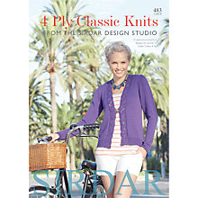 Buy Sirdar Cotton 4 Ply Classic Knits Knitting Pattern, 483 Online at johnlewis.com