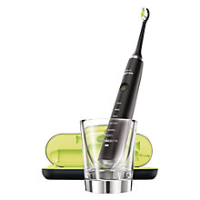 Buy Philips HX9351/04 DiamondClean Rechargeable Sonic Toothbrush, Black Online at johnlewis.com