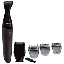 Buy Philips MG1100/16 Multigroom Series 1000 Ultra Precise Beard Styler Online at johnlewis.com