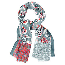 Buy White Stuff Longboat Bird Scarf, Green Multi Online at johnlewis.com