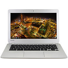 "Buy Toshiba CB30-B-104 Chromebook, Intel Celeron, 4GB RAM, 16GB SSD, 13.3"", Full HD, Silver Online at johnlewis.com"