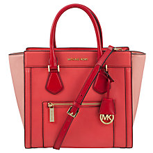 Buy MICHAEL Michael Kors Colette Large Leather Satchel Bag Online at johnlewis.com