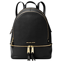 Buy MICHAEL Michael Kors Rhea Small Leather Backpack Online at johnlewis.com
