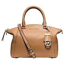 Buy MICHAEL Michael Kors Riley Small Pebbled Leather Satchel, Peanut Online at johnlewis.com