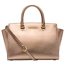 Buy MICHAEL Michael Kors Selma Large Saffiano Leather Satchel Online at johnlewis.com