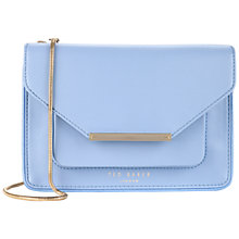 Buy Ted Baker Isla Crosshatch Clutch Bag, Blue Online at johnlewis.com