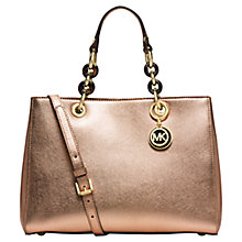 Buy MICHAEL Michael Kors Cynthia Medium Satchel Bag Online at johnlewis.com