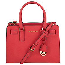 Buy MICHAEL Michael Kors Dillon Leather Satchel Bag Online at johnlewis.com