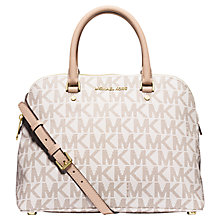 Buy MICHAEL Michael Kors Cindy Large Dome Satchel Online at johnlewis.com