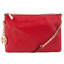 Buy MICHAEL Michael Kors Jet Set Chain Leather Messenger Bag Online at johnlewis.com
