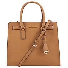 Buy MICHAEL Michael Kors Dillon Large Saffiano Leather Tote Bag, Peanut Online at johnlewis.com