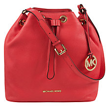 Buy MICHAEL Michael Kors Jules Drawstring Leather Bucket Bag Online at johnlewis.com