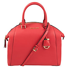 Buy MICHAEL Michael Kors Riley Large Pebbled-Leather Satchel Online at johnlewis.com
