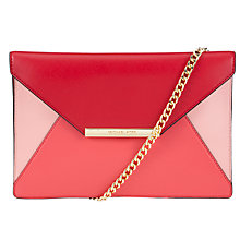 Buy MICHAEL Michael Kors Lana Envelope Leather Clutch Bag, Pink Online at johnlewis.com