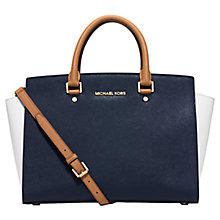 Buy Michael Kors Selma Large Saffiano Leather Satchel Online at johnlewis.com