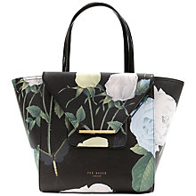 Buy Ted Baker Dania Large Crosshatch Tote Bag, Black Online at johnlewis.com