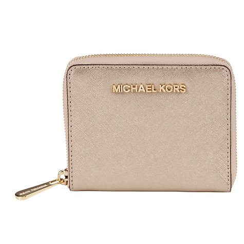 Buy MICHAEL Michael Kors Medium Jet Set Travel Zip Around Leather Purse Online at johnlewis.com