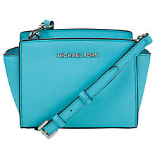 Buy MICHAEL Michael Kors Selma Mini Leather Messenger Bag Online at johnlewis.com