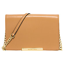 Buy MICHAEL Michael Kors Lana Leather Wallet Clutch Bag, Peanut Online at johnlewis.com