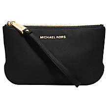 Buy MICHAEL Michael Kors Rhea Top Zip Large Leather Pouch Purse Online at johnlewis.com