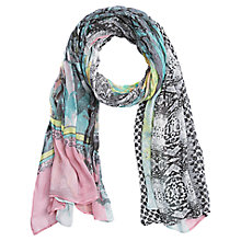 Buy Betty Barclay Flower / Animal Print Scarf, Multi Online at johnlewis.com