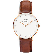 Buy Daniel Wellington Women's St. Andrews Classy Leather Strap Watch Online at johnlewis.com