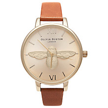 Buy Olivia Burton Women's Bee Motif Leather Strap Watch Online at johnlewis.com