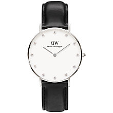 Buy Daniel Wellington Women's Sheffield Classy Leather Strap Watch Online at johnlewis.com