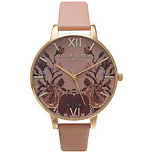 Buy Olivia Burton OB14WG02 Women's Winter Garden Watch, Burgundy/Gold Online at johnlewis.com
