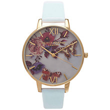 Buy Olivia Burton OB15EG03 Women's Enchanted Garden Leather Strap Watch, Powder Blue Online at johnlewis.com
