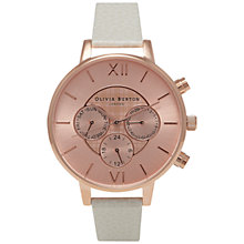 Buy Olivia Burton OB15CG52 Women's Chronograph Detail Watch, Mink Online at johnlewis.com
