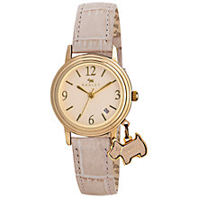 Buy Radley RY2298 Women's Dog Charm Leather Watch Online at johnlewis.com