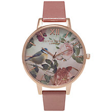 Buy Olivia Burton OB15WL48 Women's Woodland Floral Watch, Rose Online at johnlewis.com