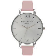 Buy Olivia Burton OB15DB59 Women's Big Dial Watch, Dusty Pink Online at johnlewis.com